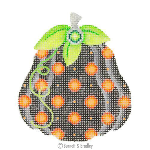 BB 0553 - Pumpkin - Black with Orange Polka Dots