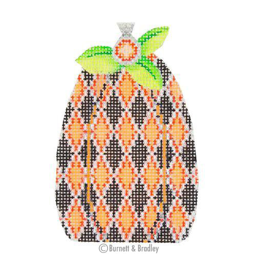 BB 0559 - Pumpkin - Black & Orange Diamond Pattern