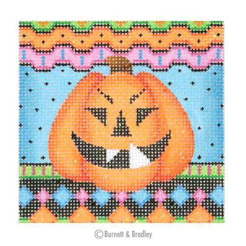 BB 0617 - Jack-o-Lantern Square - Diamonds