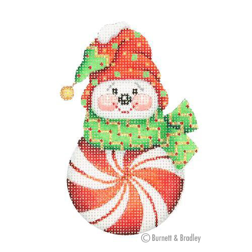 BB 0693 - Snowman Peppermint Red with Red & Green Sock Hat