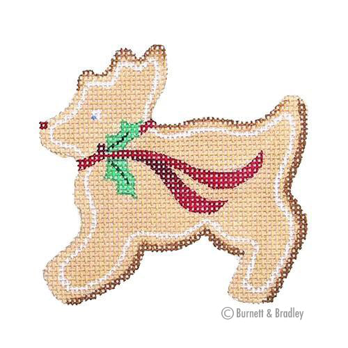 BB 0716 - Gingerbread Reindeer - Holly Bow