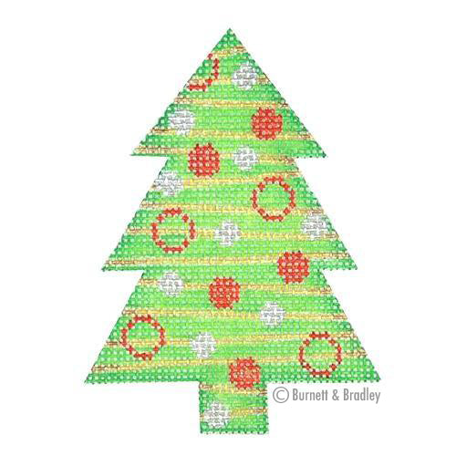 BB 0754 - Mini Tree - Green with Stripes & Dots