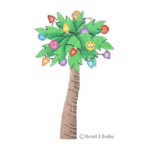 BB 0769 - Christmas by the Sea - Palm Tree Decorated with Lights