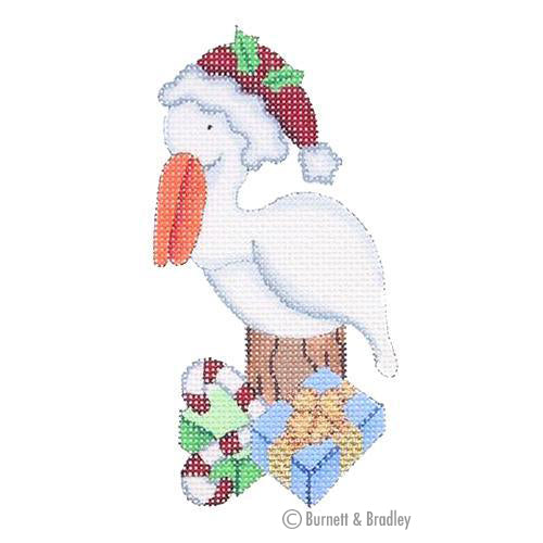 BB 0777 - Christmas by the Sea - Pelican with Santa Hat