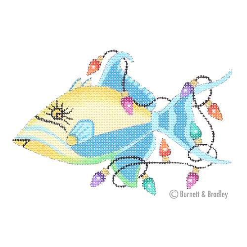 BB 0795 - Christmas by the Sea - Queen Trigger Fish with Christmas Lights