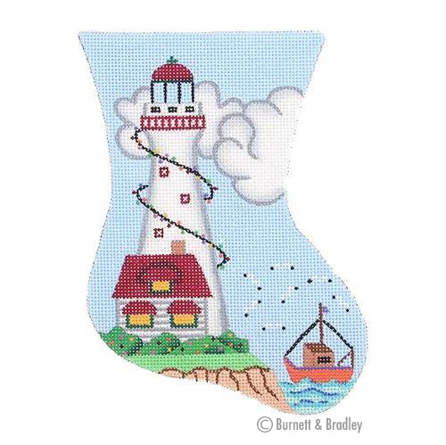 BB 0875 - Mini Stocking - White Lighthouse