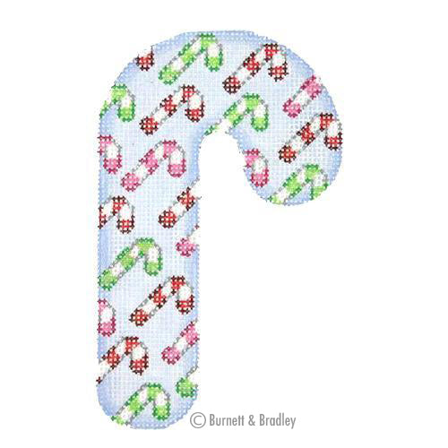 BB 0920 - Candy Cane - Blue with Candy Canes