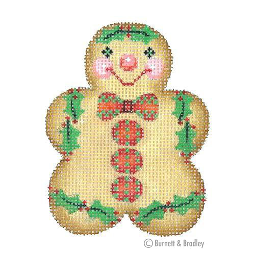 BB 0923 - Gingerbread Boy - Red & Green Bow Tie