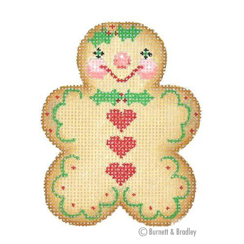 BB 0925 - Gingerbread Man - Holly Bow Tie