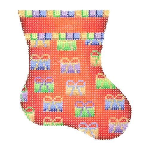 BB 1138 - Mini Stocking - Red with Packages