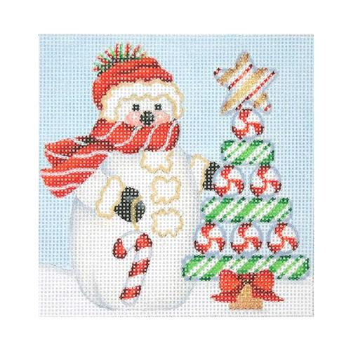 BB 1147 - Snowman Square - Candy Cane Tree