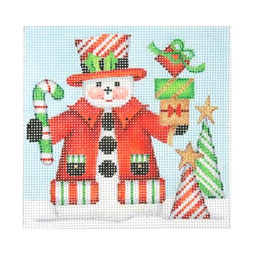 BB 1152 - Snowman Square - Candy Cane Top Hat & Trees