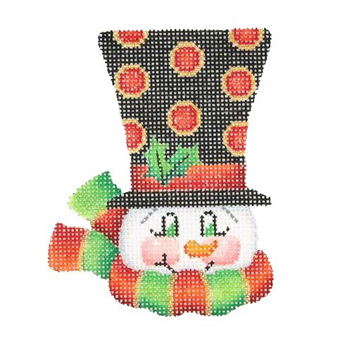 BB 1224 - Top Hat Snowman - Red Dots