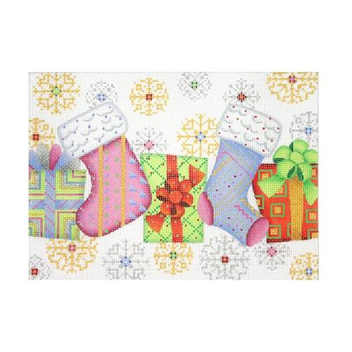BB 1300 - Christmas Pillow - Stockings & Packages