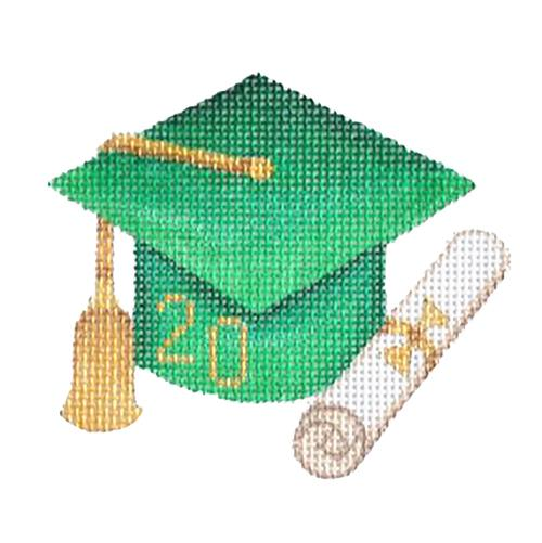 BB 1337 - Graduation Cap - Green with Year