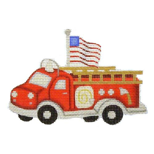 BB 1460 - Red Fire Engine with Flag Ornament