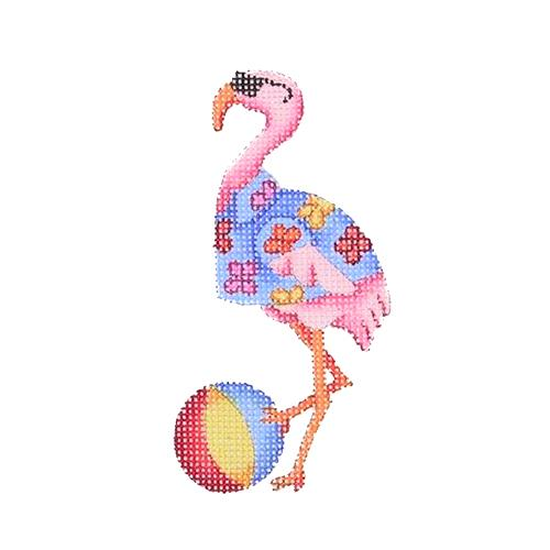 BB 1646 - By the Sea - Flamingo with Beach Ball
