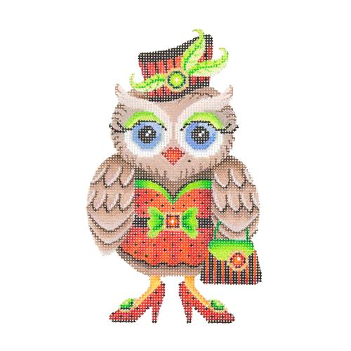 BB 1790 - Owl - Red & Black Hat & Dress