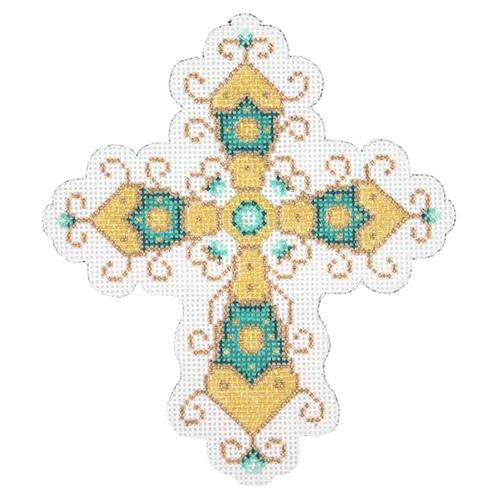 BB 1878 - Cross - Aqua & Gold