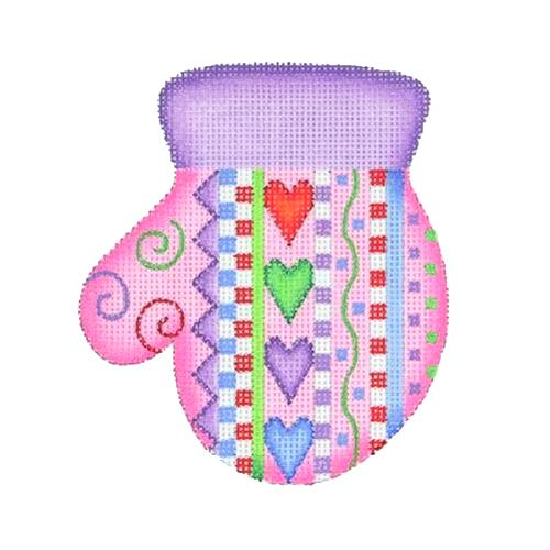 BB 2083 - Mitten - Hearts & Stripes (L)