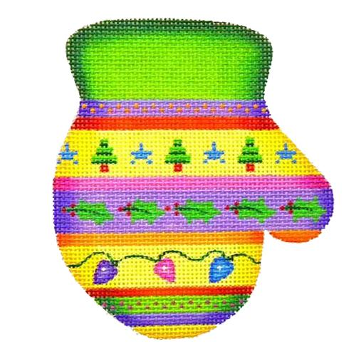 BB 2088 - Mitten - Horizontal Patterned Stripes (R)