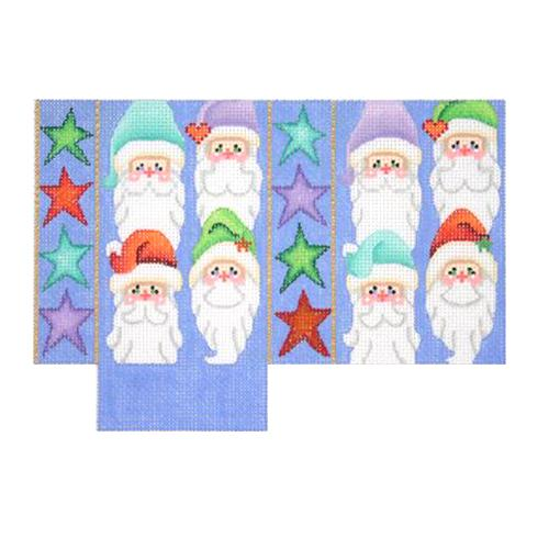 BB 2124 - Tote Bag - Santa Faces & Stars