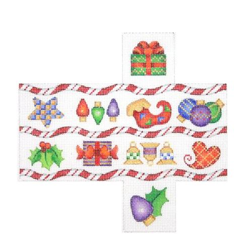 BB 2233 - 3-D Package - Candy Cane Stripes & Christmas Symbols
