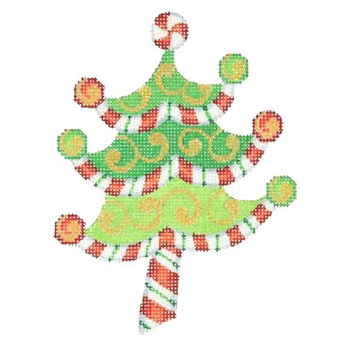 BB 2280 - Peppermint Swirl Tree - Red & White Stripes