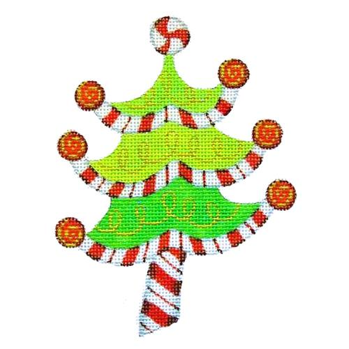 BB 2281 - Peppermint Swirl Tree - Red, White & Green Stripes