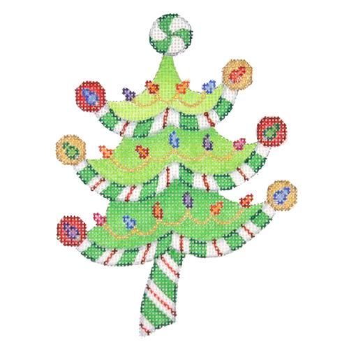 BB 2298 - Peppermint Swirl Tree - Lights