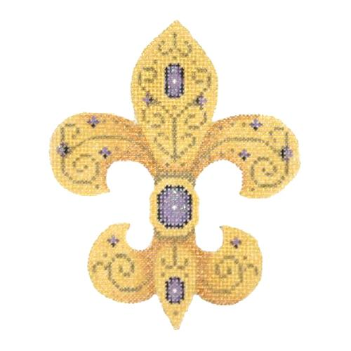 BB 2362 - Fleur de lis - Purple Jewels