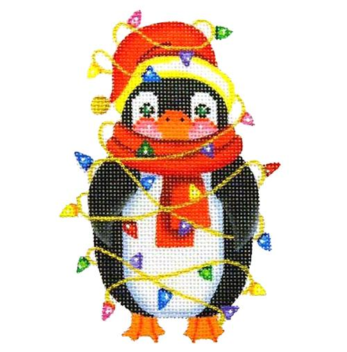 BB 2388 - Penguin Wrapped in Lights