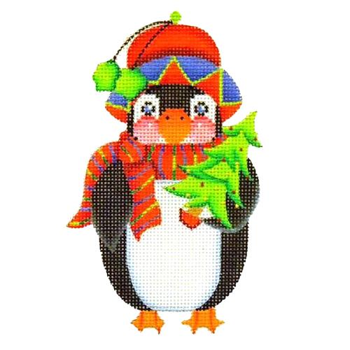 BB 2393 - Penguin with Christmas Tree