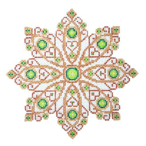 BB 2517 - Green Jeweled Snowflake