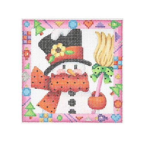 BB 2614 - Whimsy Border Ornament - Snowman with Broom