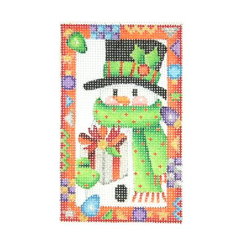BB 2616 - Whimsy Border Ornament - Snowman with Present