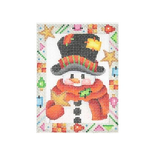 BB 2617 - Whimsy Border Ornament - Snowman with Star
