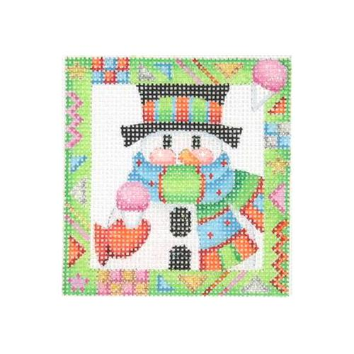 BB 2618 - Whimsy Border Ornament - Snowman with Snowcone