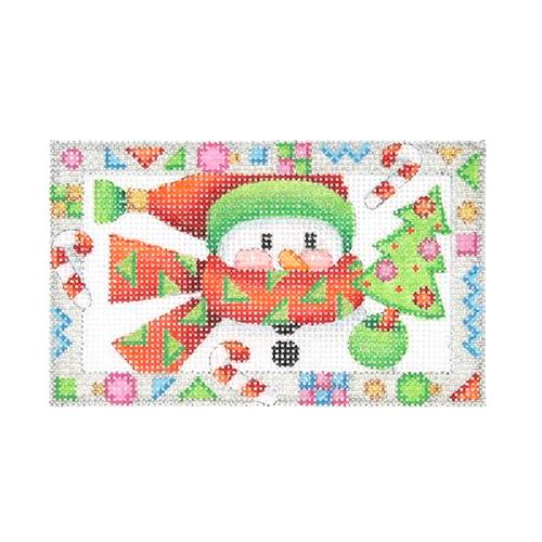 BB 2619 - Whimsy Border Ornament - Snowman with Tree