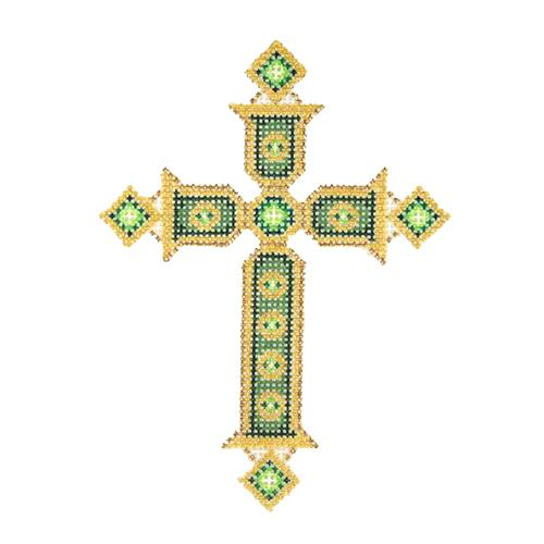 BB 2642 - Cross - Gold & Green