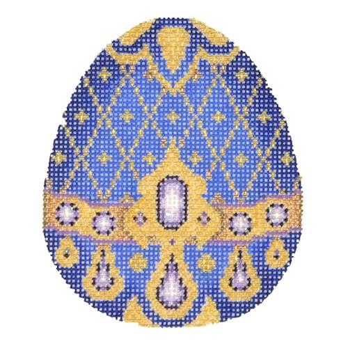 BB 2684 - Jeweled Egg - Royal Blue & Gold