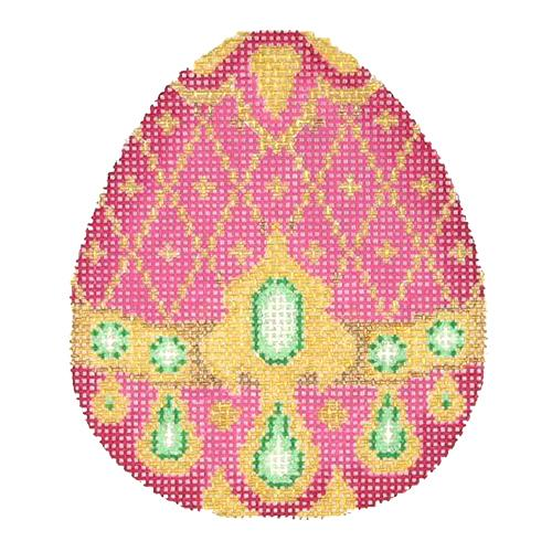 BB 2686 - Jeweled Egg - Pink & Gold