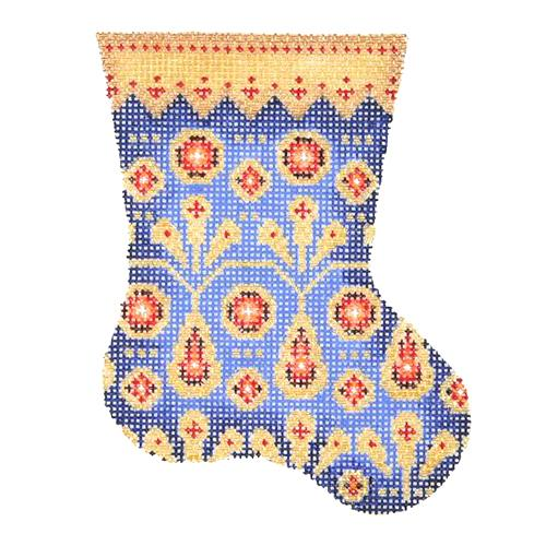 BB 2708 - Mini Stocking - Royal Blue with Red Jewels