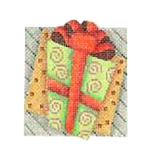 BB 2732 - Double Patterned Squares Ornament - Package