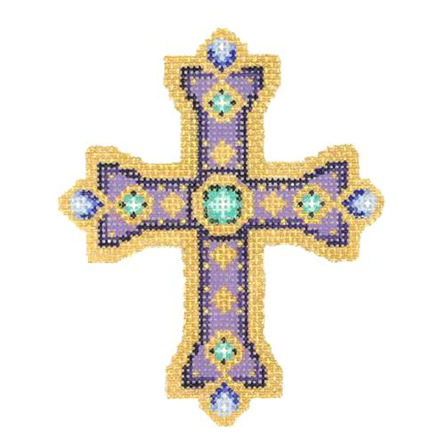 BB 2743 - Cross - Purple & Gold