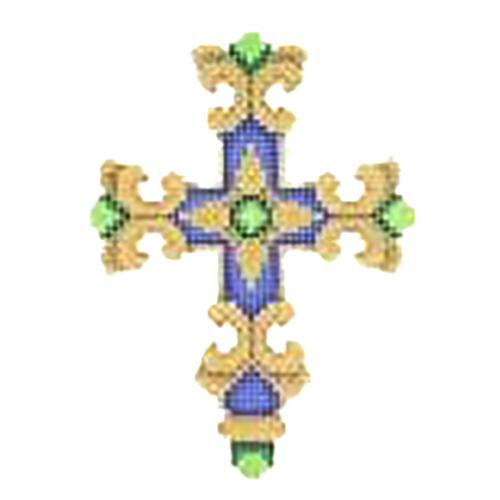 BB 2748 - Cross - Royal Blue & Gold
