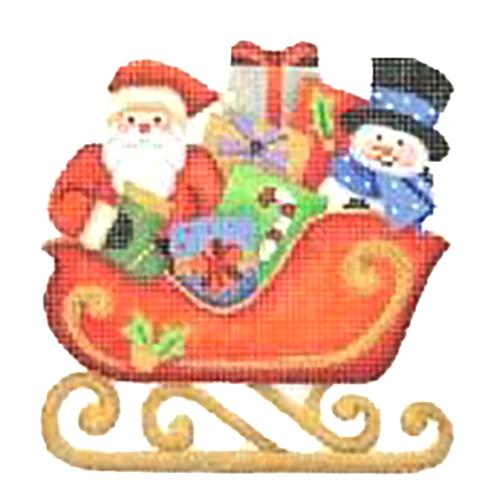 BB 2757 - Red Sleigh - Santa & Snowman