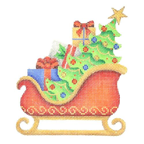 BB 2758 - Red Sleigh - Tree & Packages