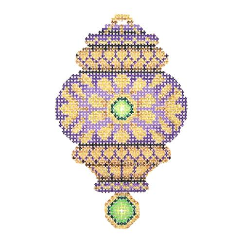BB 2789 - Jeweled Christmas Ball - Purple & Gold