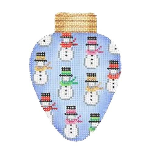BB 2814 - Christmas Light - Blue with Snowmen